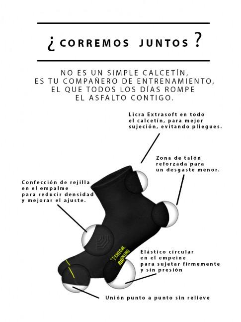 calcetines de running negros bajos
