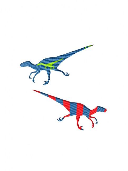 silueta  velocirraptor