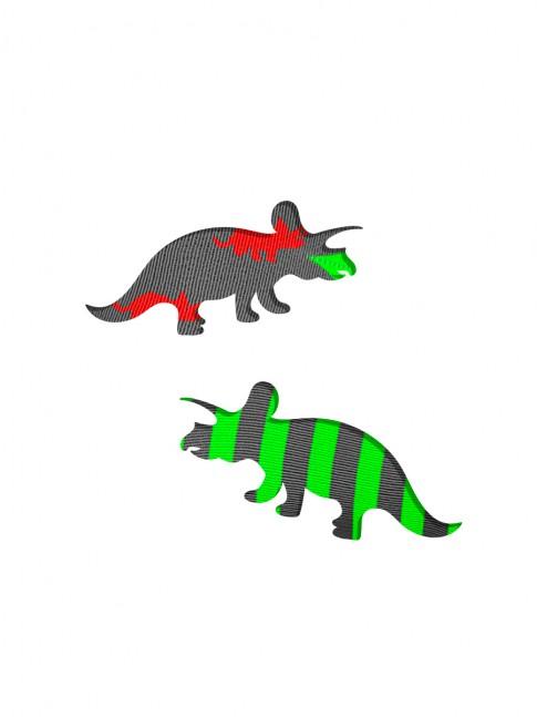 silueta tejido calcetines triceratops