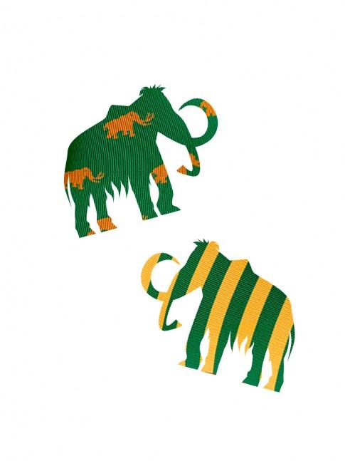 Calcetines silueta de mamuts