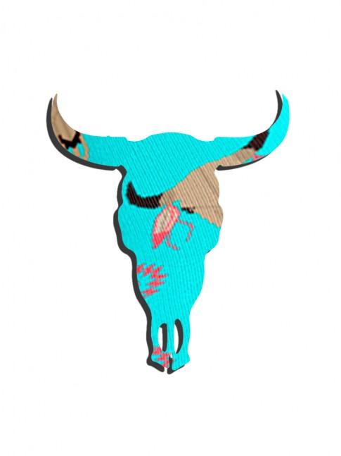 """"""" BLUE COW SKULL """""""
