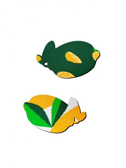 Calcetines modelo triplex de limones
