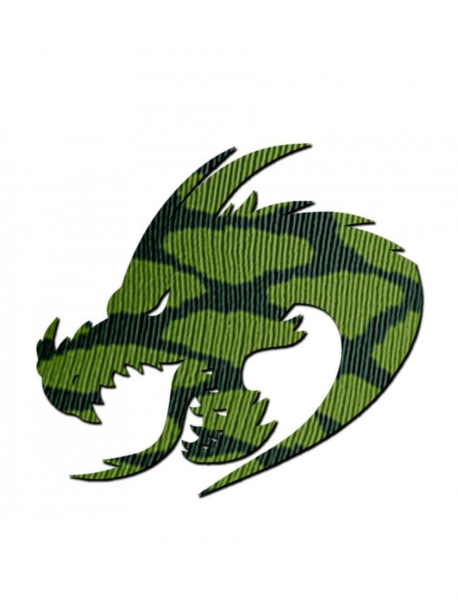 calcetines silueta dragón tejido
