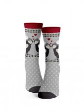 calcetines de navidad pingüinos amorosos