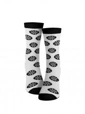 """Calcetines modelo  """"la gomera"""" mandala. calcetines blancos"""