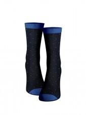 calcetines de puntos color azul