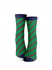 calcetines verdes de rayas oblicuas