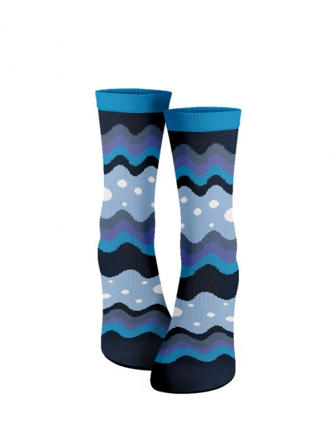calcetines de ondas azules