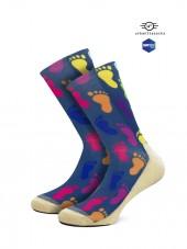 calcetines de pies de colores