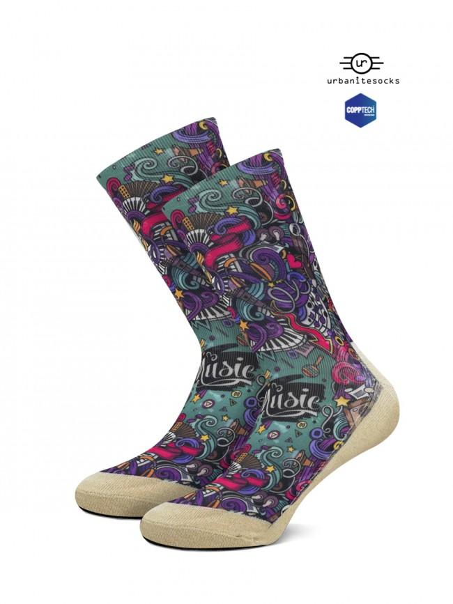 calcetines para fanáticos de la musica
