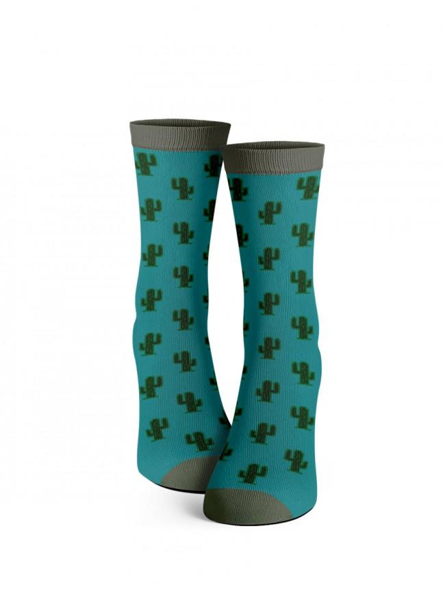 calcetines de cactus azules