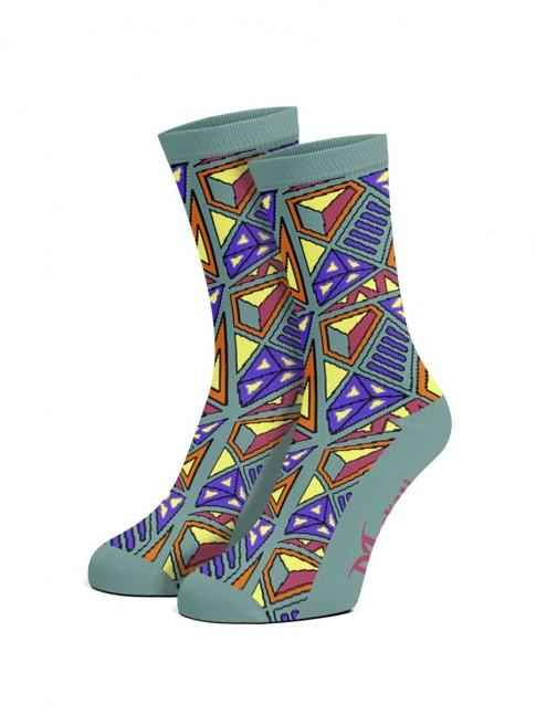 calcetines psicodelicos azul turquesa