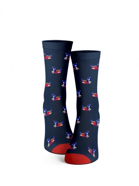 calcetines de vespas azul marino