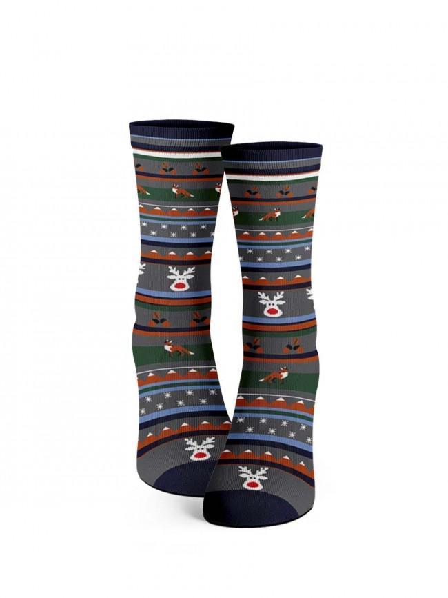 calcetines de navidad zorro y bellotas