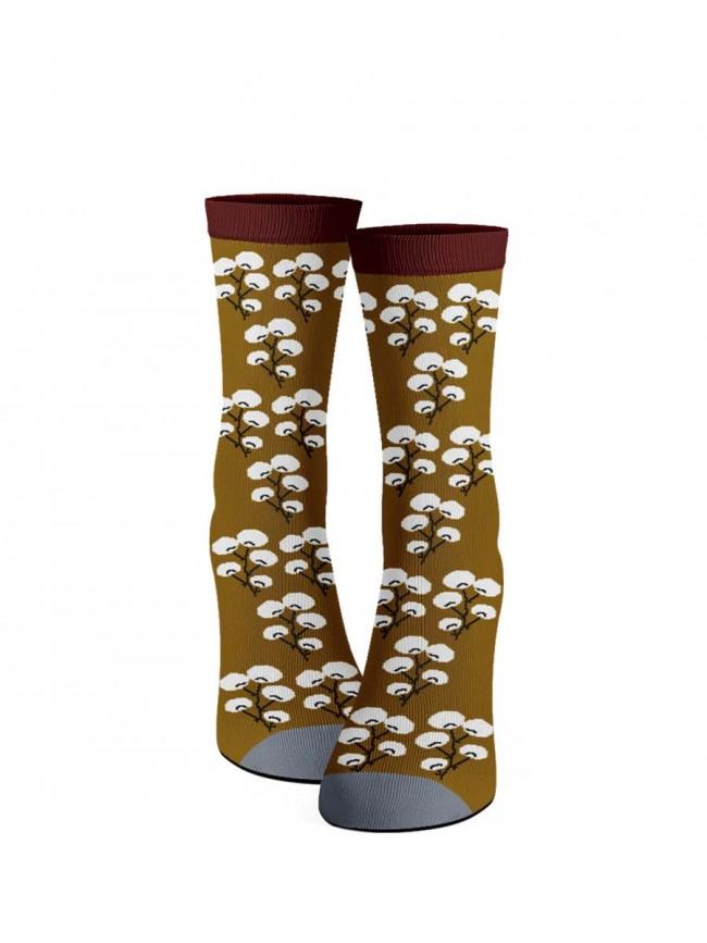 calcetines flor de cerezo oro viejo