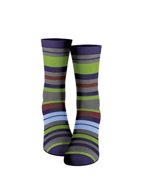 calcetines de rayas de colores
