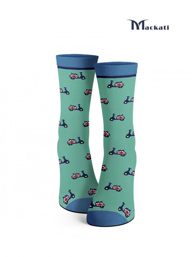 calcetines de vespas color turquesa