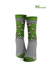 calcetines de mariposas color verde
