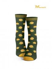 calcetines de limones amarillo y verde