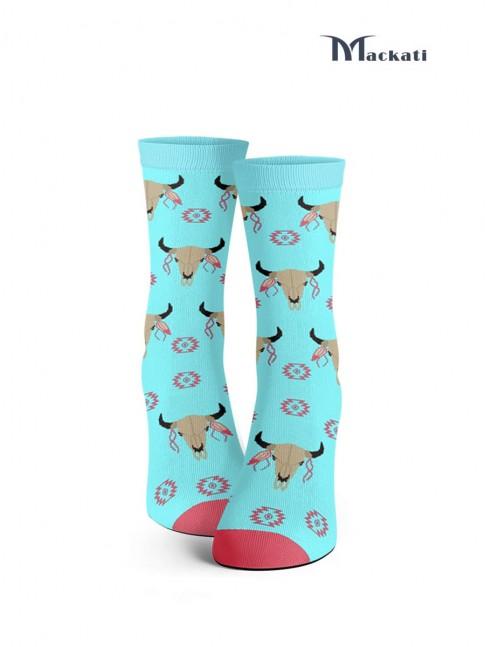 calcetines de calaveras de vaca oeste