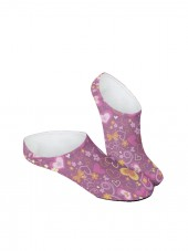 calcetines invisibles de corazones rosa