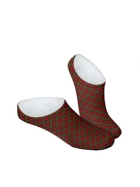 calcetines invisibles de cuadros escoceses