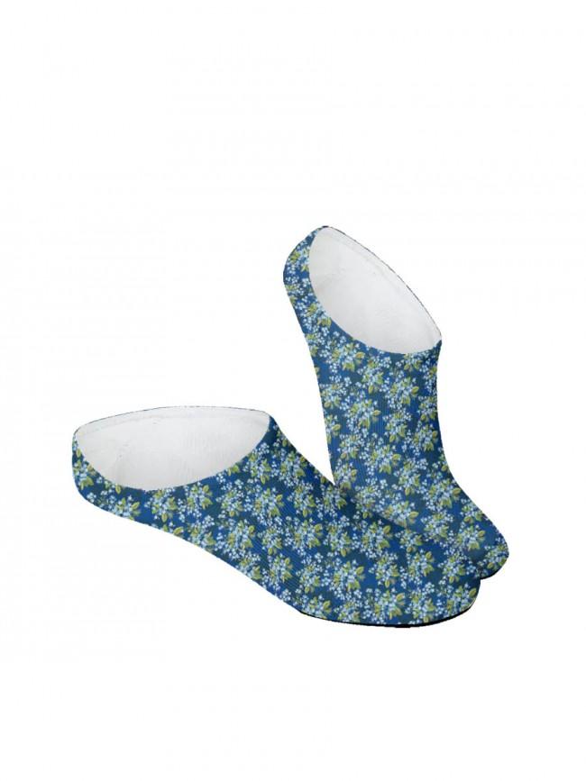 calcetines invisibles de flores multicolores