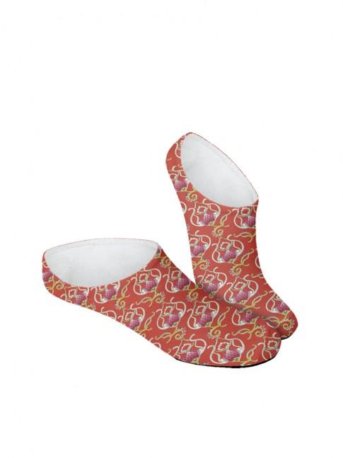 calcetines invisibles de flores lilas