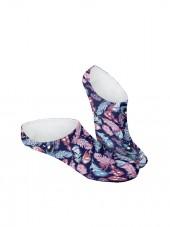 Pinkies. Calcetines invisibles de plumas multicolor