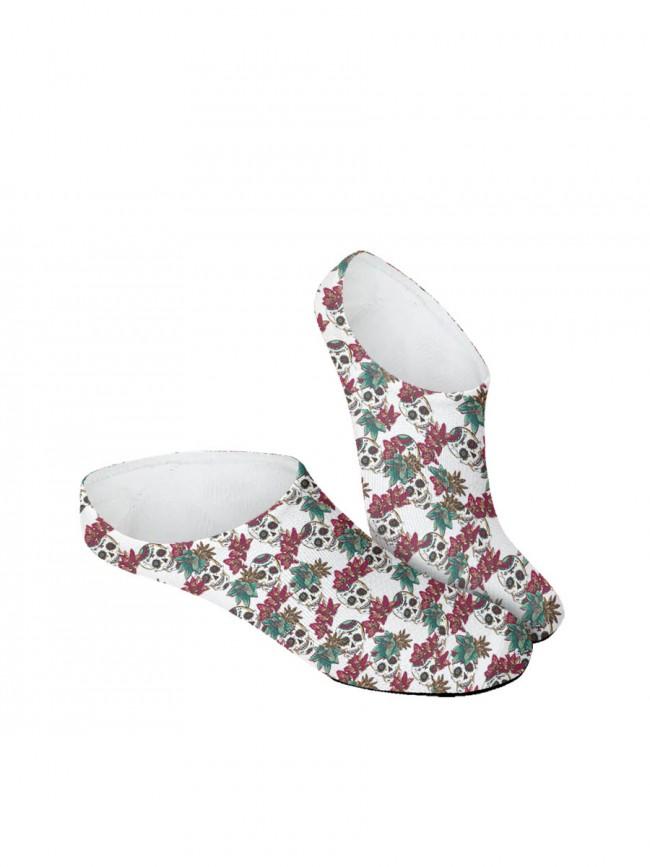 calcetines invisibles. Pinkis de calaveras blancos