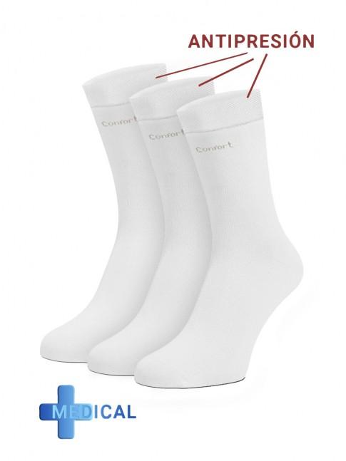 pack de calcetines medicos con puño antipresión.